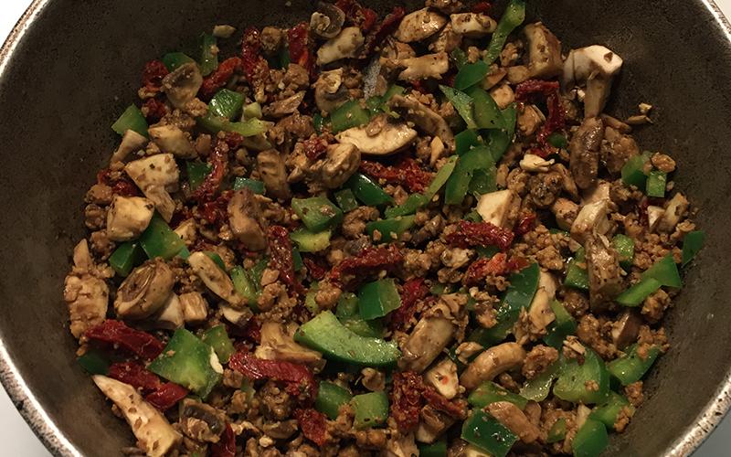 Vegan meal in a pot