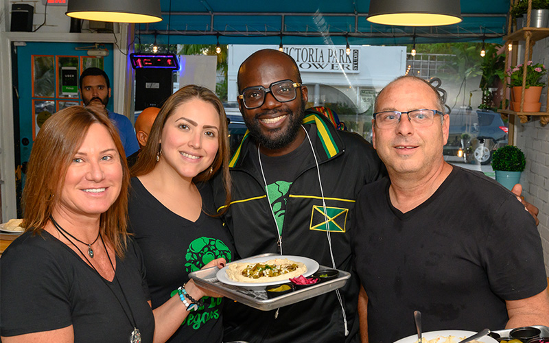 SoFlo Vegans Eat @ The Hummus House on May 30, 2019