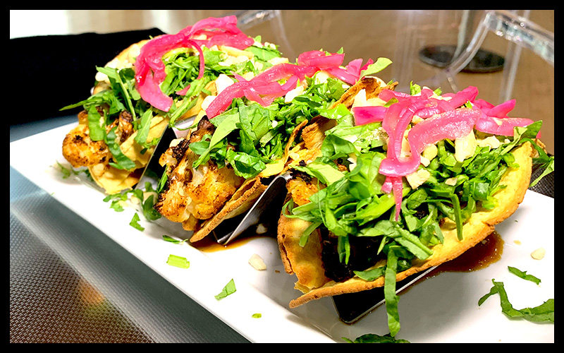 Vegan Kung Pao Cauliflower Tacos at Yello Cafe | Spotlight